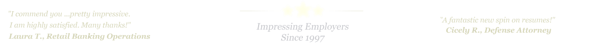 Missouri City Resume Service... IMPRESSING EMPLOYERS SINCE 1997!